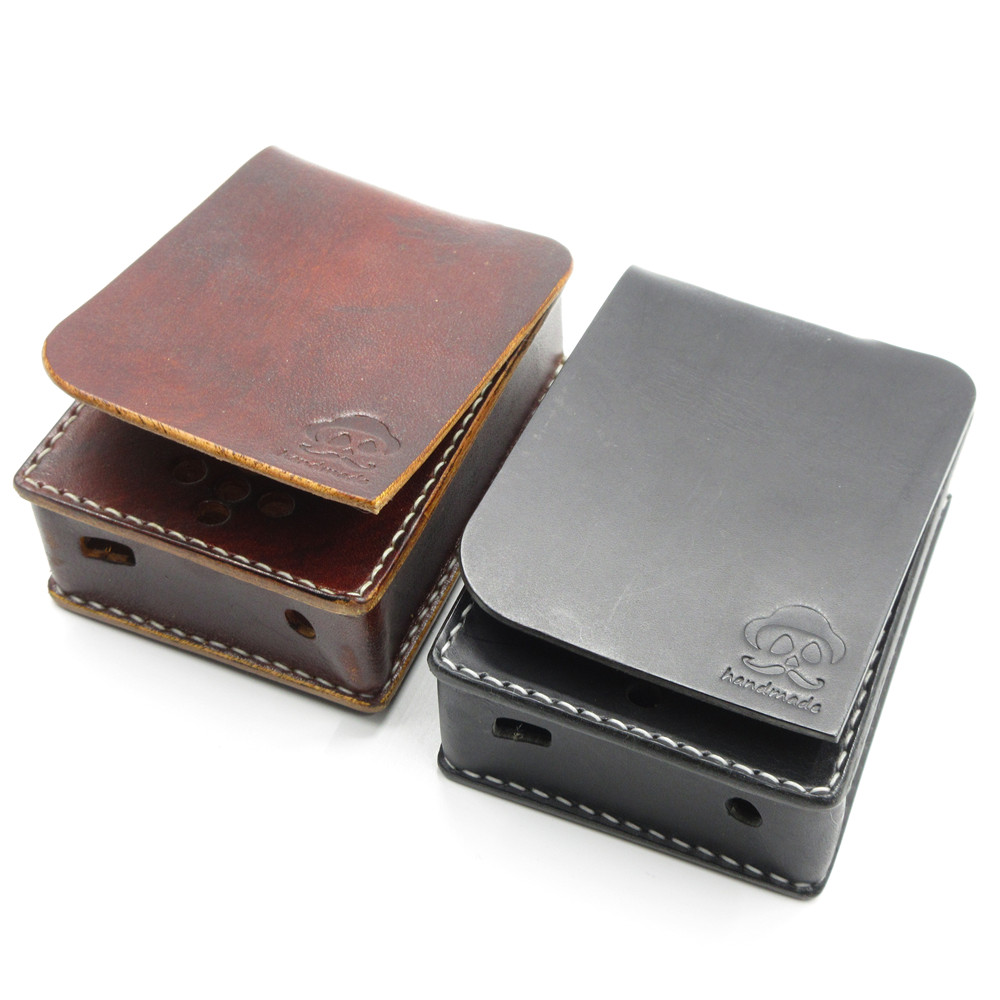 Newest Hand-made 1PCS protable Leather Case Protective Film case Use For Zishan DSD HIFI MP3 Music Player