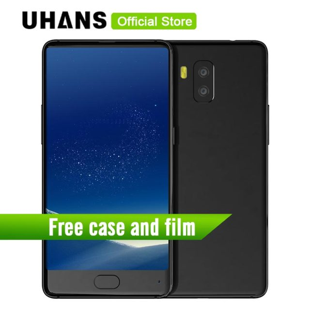 UHANS MX Android 7.0 Smartphone 5.2 Inch MTK6580 Quad Core 2GB RAM +16GB ROM 8.0MP Camera 3000mAh OTG Touch ID Mobile Phone