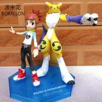 Digimons Toys Action Figures Makino Ruki+Renamon Game Anime Figures Vinyl Doll Toys for Children Boys Birthday Christmas Gift