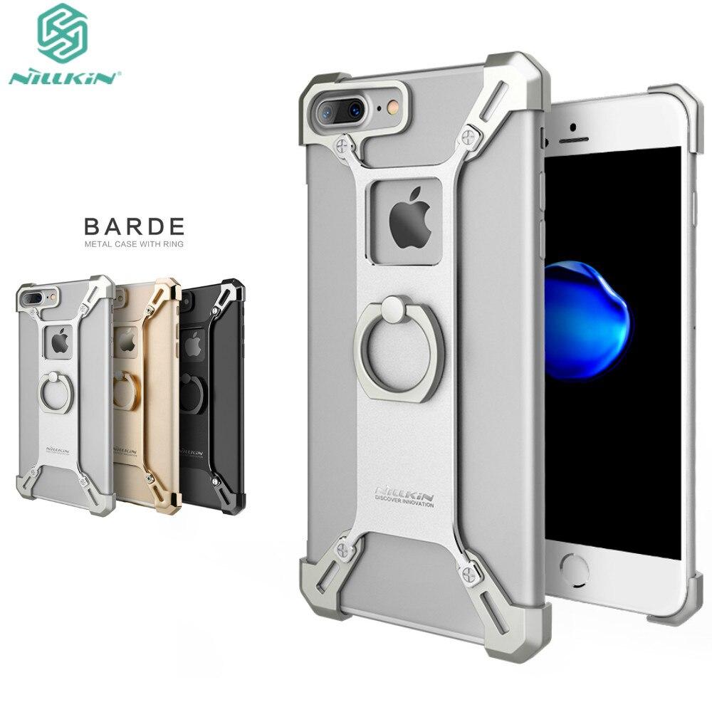 imágenes para Nillkin Bardes aleación De Aluminio de la contraportada con el anillo de soporte para teléfono iphone 7 más la caja de 5.5 pulgadas para iphone7 más cubierta de parachoques