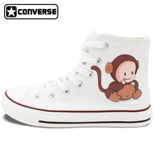 Unisex White Converse Chuck Taylor Babies with Lovely Animal Costumes High Top Canvas Sneakers Gifts Birthday Presents