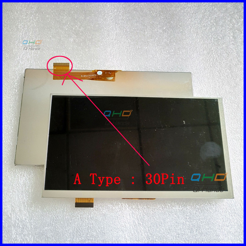 30pin or 50pin LCD Display Matrix For 7 TEXET X-pad HIT 7 3G TM-7866 Tablet 30pins LCD Screen Replacement Parts Free Shipping