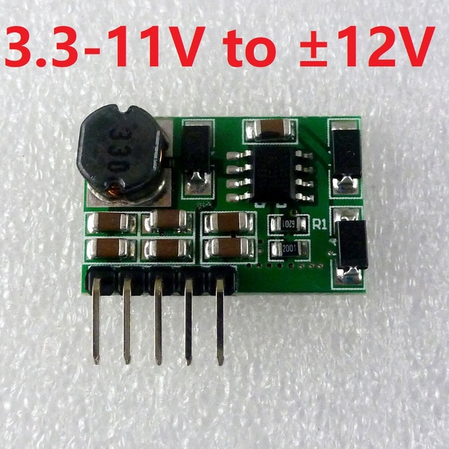 7W 3.3-11V to   ??12V +-12V Positive and negative Dual power supply DC/DC Step up Converter module for Power amplifie