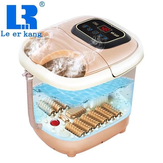 LEK-818 полуавтоматическая фумигация для ног ванна массаж подогрев для ног ванна бочка постоянная температура массажное устройство для ног устройство