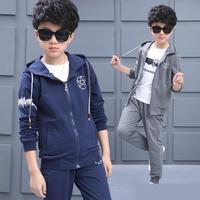 Kids Clothing Teenager Boys Spring Autumn Set Boys Tracksuit Children Long Sleeve Hooded Jackets + Pants 2 Pcs Boys Clothes Set