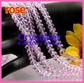 Бесплатная Доставка! оптовая 4 мм, 6 мм, 8 мм, 10 мм, 12 мм 5040 AAA Лучшие Качества розовый цвет свободные шарики Кристалл Rondelle