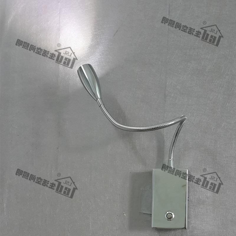 Llamba muri Topoch Touch Dimmable 15% -100% Shkëlqim i rregullueshëm Studimi i shtratit të lëmuar të kromit Ndriçimi 3W CREE LED 2 vjet garanci