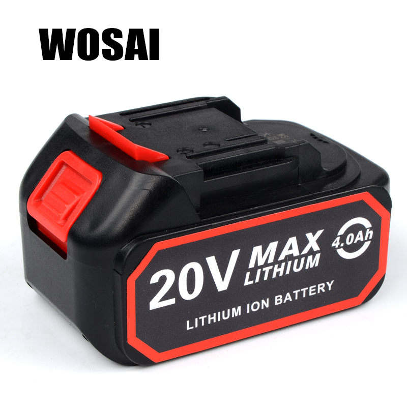 WOSAI 4.0AH 20V Power Tools Lithium Battery Pack Replacement Battery Applicable Machine Model WS-B6 WS-L6 WS-H5 WS-F6 ws 485 1шкатулка русалка