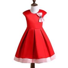Summer Dress Girl Baby Princess Dress Pink And Red Bow Children Evening Dresses Girl Birthday Wedding Dress For Girl