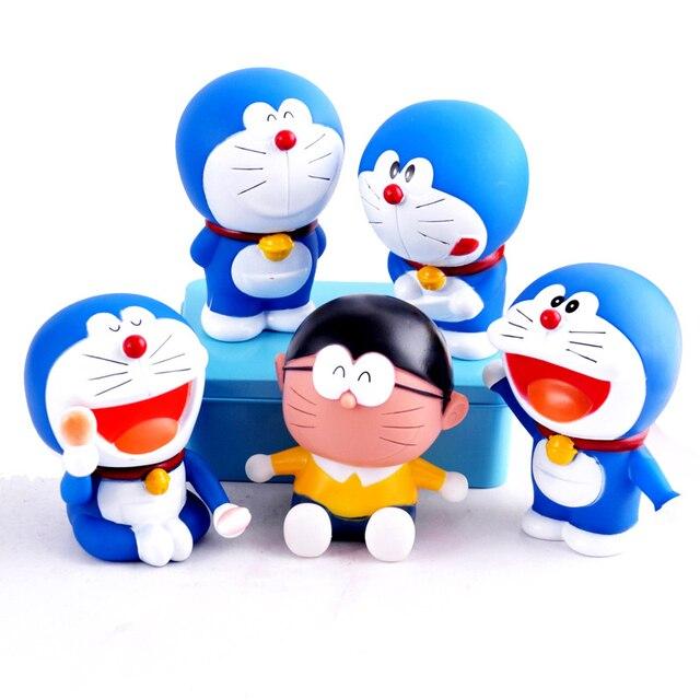 kawaii anime cartoon cute doraemon and nobi nobita pvc action figure