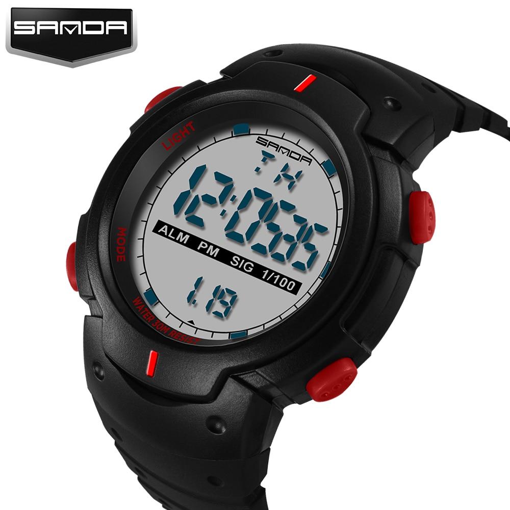 Digital Watch 2018 SANDA Luxury Top New Brand Men Wrist Watch Fashion Military Digital Watch Male Clock Relogio Masculino 269