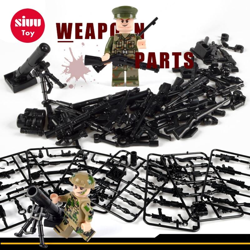 Militär Swat Polis Gun Vapen Pack Armé soldater byggstenar MOC Arms - Byggklossar och byggleksaker