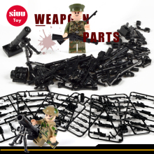Militær Swat Police Gun Våben Pack Army soldater byggesten MOC Arms City Police LegoINGly World War Series Mortar Legetøj