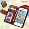 Photo Frame Wallet Book Style Flip Leather Cover Case For Iphone 5 5G 5S With ID