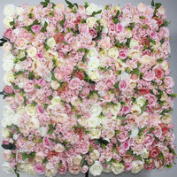 2018 SPR mix color with leaf pink Artificial rose wedding flower wall backdrop arch table centerpiece decorations 10pcs/lot