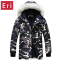 New Arrival Winter Coats Autumn Military Camo Down Brand Men's Parka Fashion Casual Mens Slim Fit Parka Plus Size XXL 3XL X482