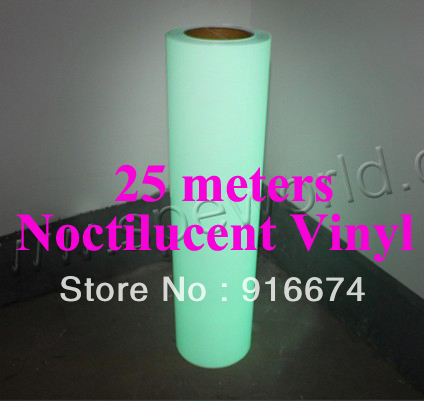 Fast Free shipping DISCOUNT 25 meters noctilucent vinyl for t-shirt heat transfer press cutting plotter watch in dark 0.5x25m one yard 51cmx100cm glitter heat transfer vinyl film heat press cut by cutting plotter diy t shirt 40 colors for choosing