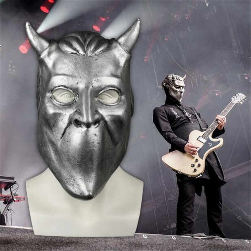 Hot New Ghost Nameless Ghoul Mask Cosplay Costumes Props Ghost B C Rock Roll Band Latex Helmet Masks Halloween Party