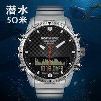 Новые мужские деловые часы спортивные мужские часы ультра тонкий циферблат многофункциональные наручные часы светящиеся все стальные тре