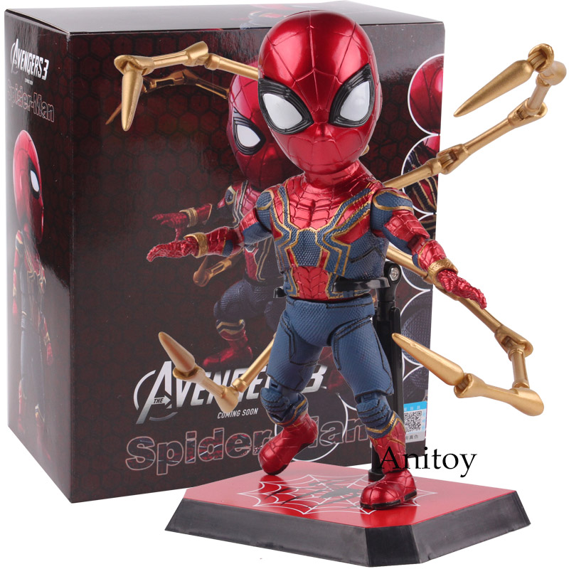 купить The Avengers 3 Infinity War Spider-man Action Figure PVC Action Figures Marvel Spiderman Collectible Model Toys Gift 17cm недорого