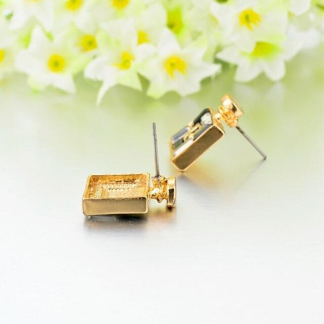Женские серьги гвоздики с кристаллами chicvie love роскошные