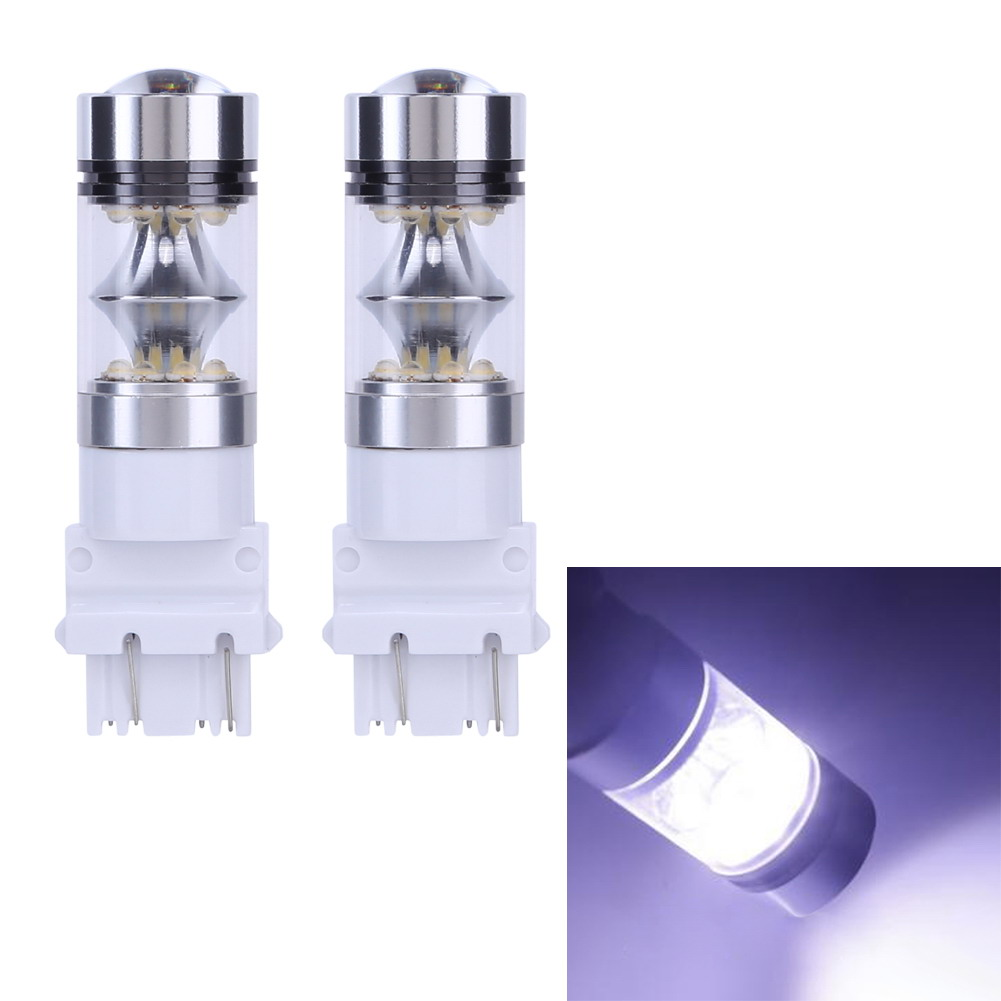 2Pcs High Power Car LED Light T25 3156 100W Automobile Daytime Running Light Auto Brake Lamp Bulb Super Car-styling Driving Lamp g126y 2pcs red led light 25 31mm spst 4pin on off boat rocker switch 16a 250v 20a 125v car dashboard home high quality cheaper