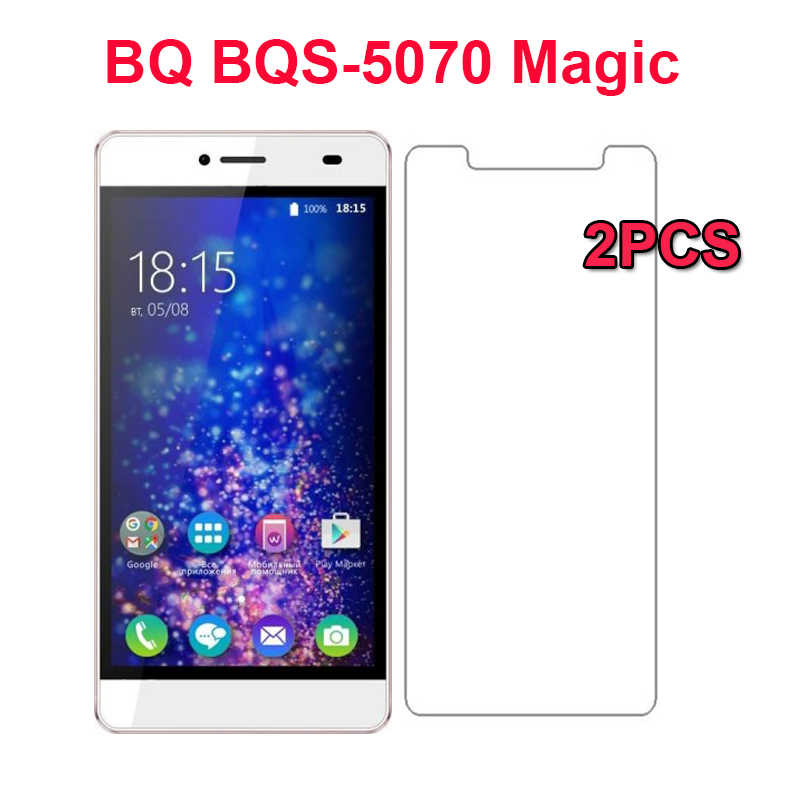 2PCS For BQ BQS-5070 Magic Tempered Glass Scratch proof Ultra-thin Screen Protector Film For BQ 5070 Cell Phone Glass Protector