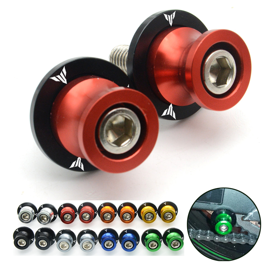 Pour CNC moto accessoires pièces pour yamaha MT-09 MT09 MT 09 MT07 Bras Oscillant Spool Sliders 1 Paire 6mm bras oscillant Bobines Sliders
