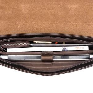 Image 5 - Mens Briefcase Portfolio Mens bag over the shoulder Laptop bags pu Leather Shoulder bag office Belt bag Messenger