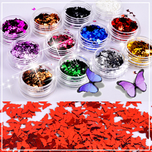 ZKO 1 Box Colorful Nail Glitter Paillette Ultra-thin Butterfly Nail Sequins Tips Nails Nail Art Decoration