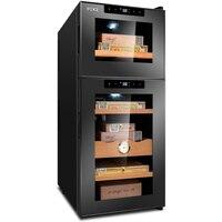 FK 18C Electronic Cigar Cabinet Freezer Temperature Wine Tea Air Cooling Cigar Cabinet Cigar Cooler Humidor Storage Display Box