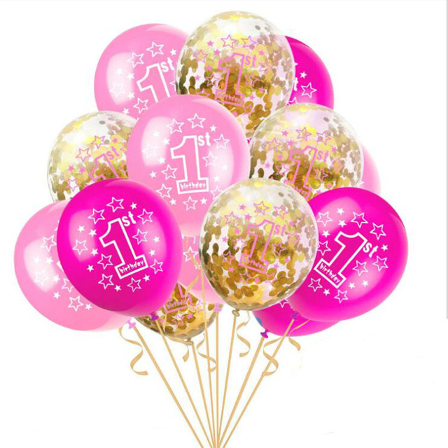 Baby Christening Birthday Balloons Children Happy Balloon 1 2 Year Older Party