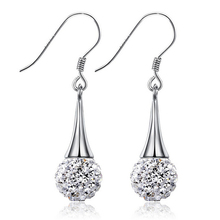 2016 new arrival hot sell fashion Shambhala 925 sterling silver ladies`drop earrings jewelry gift wholesale
