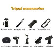 Zomei Sống Tripod Ảnh Tự Sướng Đứng Phụ Kiện điện thoại chủ clips nền tảng cho điện thoại thông minh/ipad/máy ảnh DSLR/sống phát sóng chân máy
