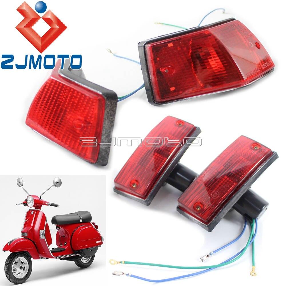 1 Set Motorcycle Turn Signal Lights Blinkers Flash Lights For Vespa P PX VSX VNX Stella Turn Indicators