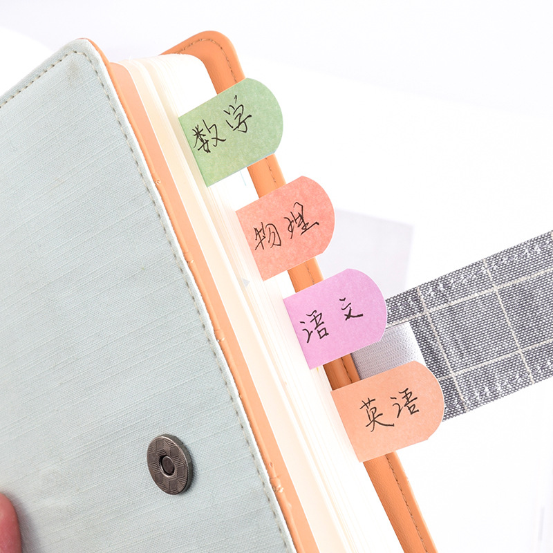 4 pcs Fresh rainbow color sticky note Mini index lable bookmark Post memo Stationery Office accessories School supplies A6966 Karachi
