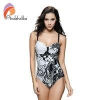 L 7XL Plus Size Swimwear Sexy One Piece Women Swimwear White Floral Printing High Waist Bodysuit