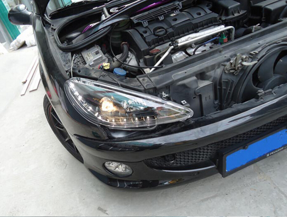 HID,2004~2008,Car Styling for Peugeo 206 Headlight,insight,206 207 308 3008 408 4008 508 Raid RCZ,Partner,206 head lamp