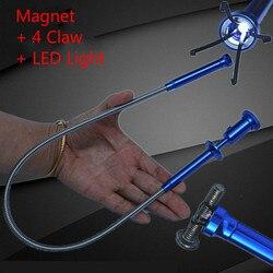 Śruby przetworniki elastyczne LED magnetyczne długie sprężyny picker Grip Home toaleta gadżet czyszczenie kanalizacji Pickup Tools w Zestawy narzędzi ręcznych od Narzędzia na
