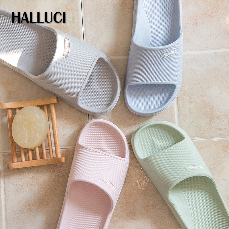 HALLUCI Candy color mules home slippers shoes women couples terlik shoes zapatos mujer Sandals flip flops chaussures femme halluci breathable sweet cotton candy color home slippers women shoes princess pink slides flip flops mules bedroom slippers