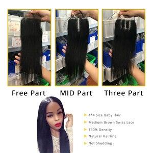 Image 5 - Aliafee ブラジルストレートヘアの束で非織り 3 バンドル情報 100% 人毛バンドルと閉鎖