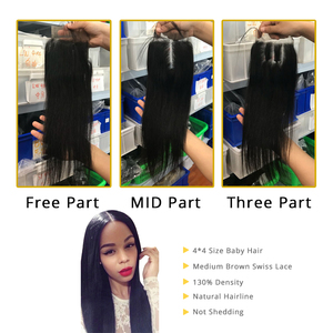 Image 5 - Aliafee Brazilian Straight Hair Bundles With Closure Non Remy Hair Weave 3 Bundle Deals 100% Human Hair Bundles With Closure