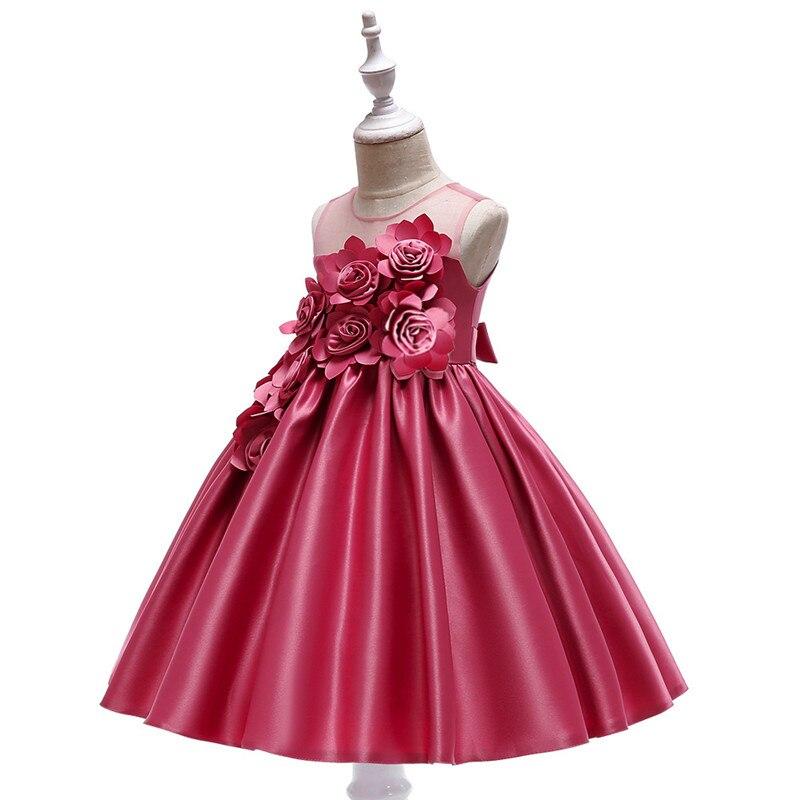 Elegant Rose Fower Girls Dress Kids Princess Birthday Applique Prom Designs Ball Gown Fashion Children Dresses For Girl Clothes (9)