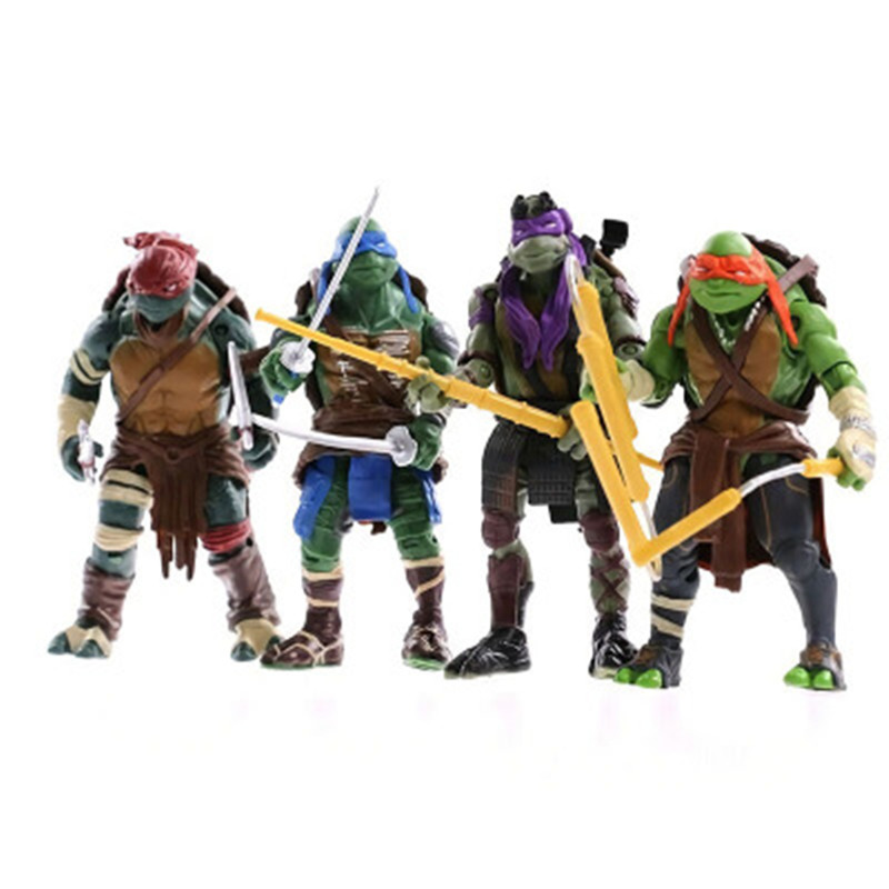 6pcs/lot NEW Free Shipping  Model Toys Action & Toy Figures Turtles Model Animation Furnishing Articles Toys For Children