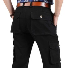 New Spring Autumn Casual Cargo Pants with Multi Pocket Men Trousers Straight Loose Baggy Hip Hop Pants High Qualiy Joggers