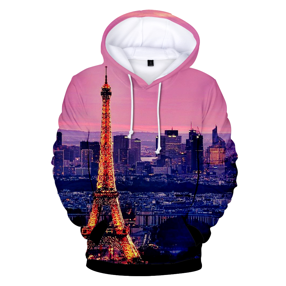 Men's Clothing Responsible Pink Fashion Printed 3d Eiffel Tower Winter Hoodieseiffel Tower 3d Mens Hoodies Clothing Casual Men/women Hooded 3d Sweatshirt Suitable For Men And Women Of All Ages In All Seasons