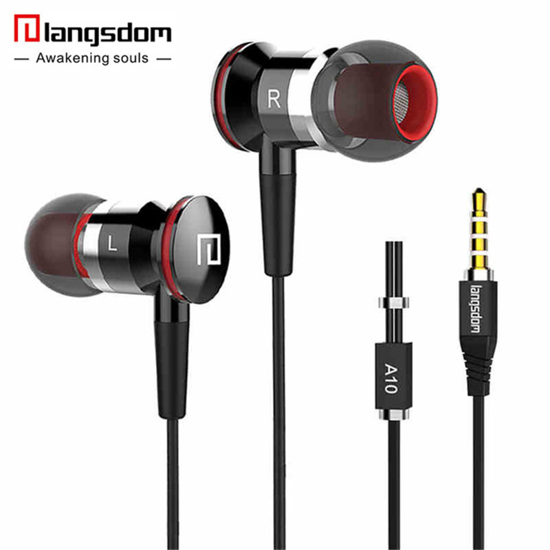 Langsdom HiFi In-ear Earphones Dynamic Crystal Clear Sound Earbuds Ergonomic Comfort-Fit Earphone for all mobile phone 2017 new six dynamic bass ear hifi earbuds earphone for mobile phone universal yinjw p8 magic song
