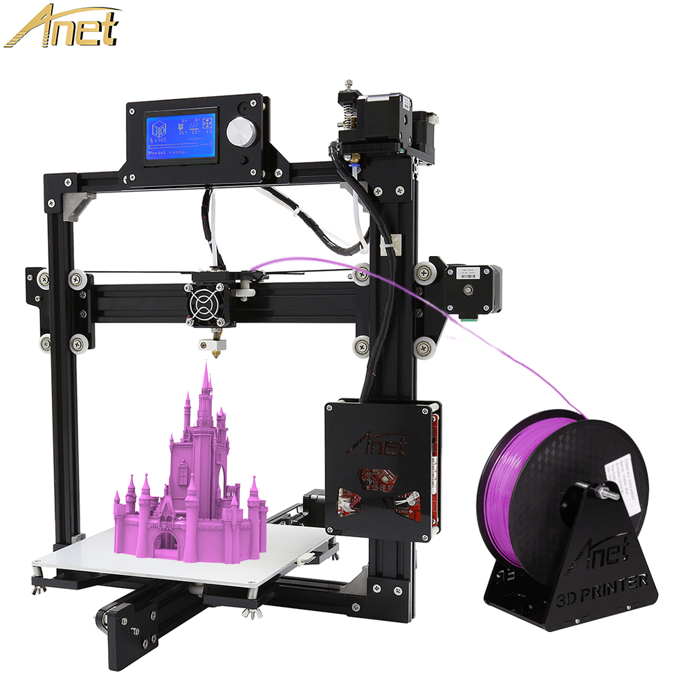Anet 3D Printer Auto Level A2 3D Printer DIY Big Size 220*220*220/220*270*220mm with Filaments+SD Card+Hot Bed for Free zonestar newest full metal aluminum frame big size 300mm x 300mm auto level laser engraving run out decect 3d printer diy kit