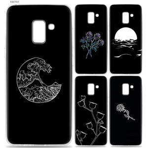 YAETEE Abstract Line Face art dark Case for Samsung Galaxy J6 S9 S8 J8 J4  A6 A8 Plus c5b63574c5a9c