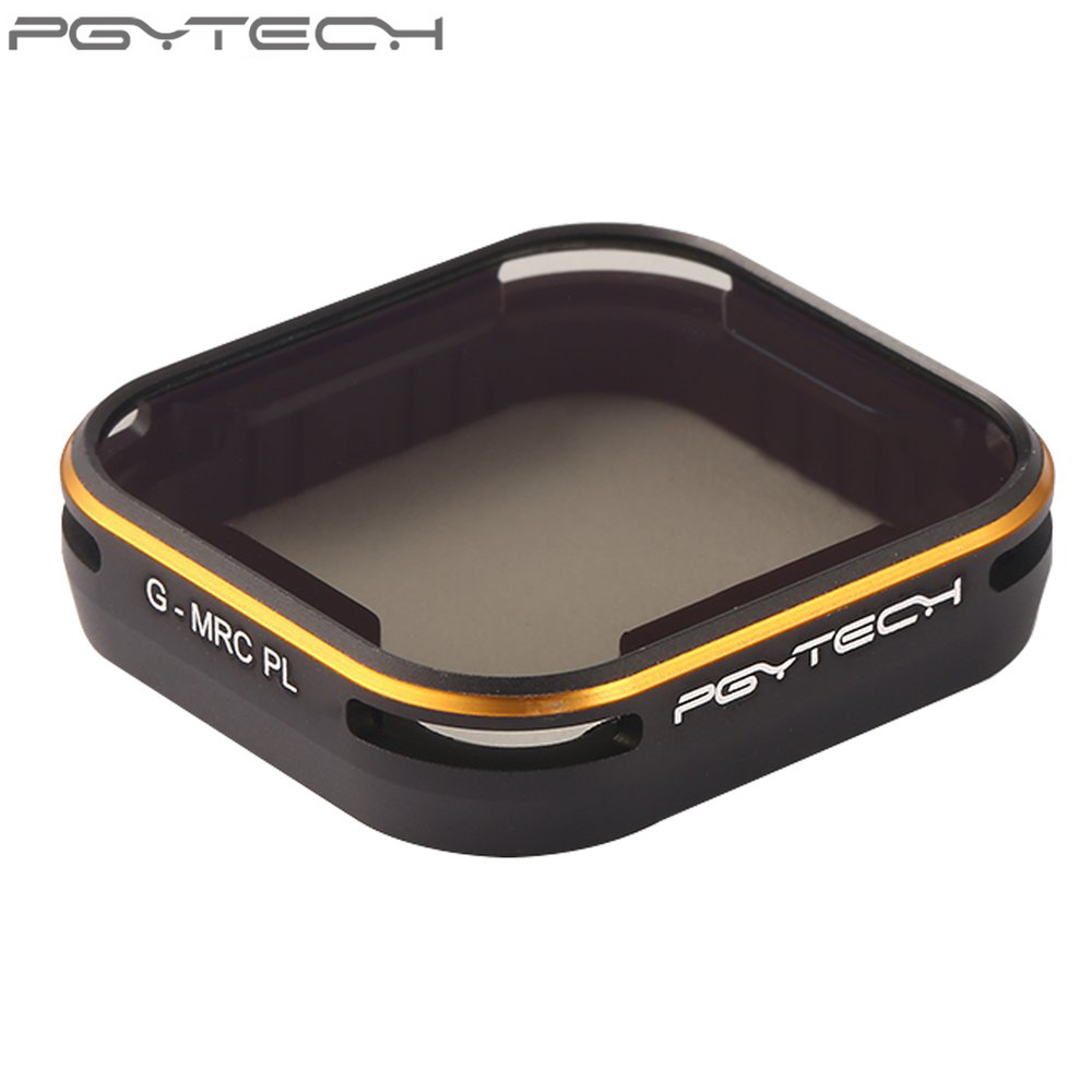 1pcs PGYTECH Lens Filter MRC PL for GOPRO Hero 5 Camera Accessories with Box pgytech lens 5 pcs filters for dji mavic pro drone g uv nd4 8 16 32 cpl hd filter accessories gimbal lens filter quadcopter